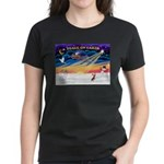 XmasSunrise/Chi Crested Women's Dark T-Shirt