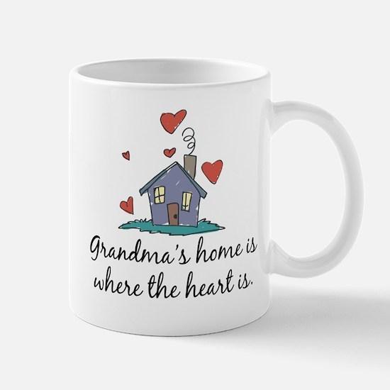 Grandma's Home is Where the Heart Is Mug