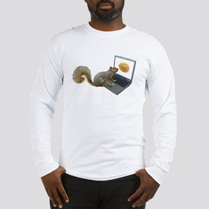 Squirrel at Computer Long Sleeve T-Shirt