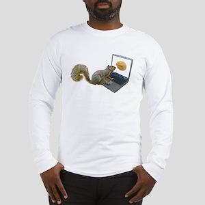 Squirrel at Computer Long Sleeve T-Shirt