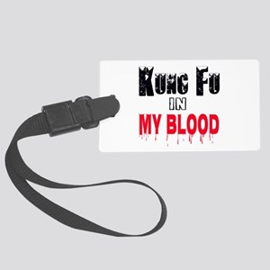 Kung Fu in my blood Large Luggage Tag