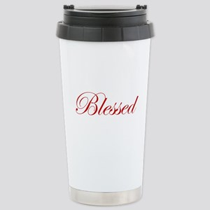 Red Blessed Stainless Steel Travel Mug