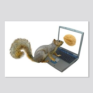 Squirrel at Computer Postcards (Package of 8)
