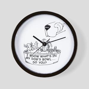 InMyDog'sBowl Wall Clock
