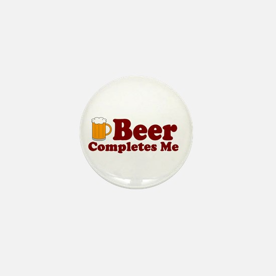 Beer Completes Me Mini Button