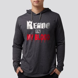 Kendo in my blood Mens Hooded Shirt