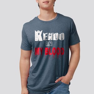 Kendo in my blood Mens Tri-blend T-Shirt