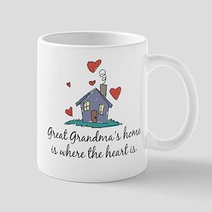 Great Grandma's Home is Where the Heart Is Mug