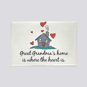 Great Grandma's Home is Where the Heart Is Rectang
