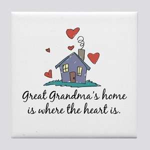Great Grandma's Home is Where the Heart Is Tile Co
