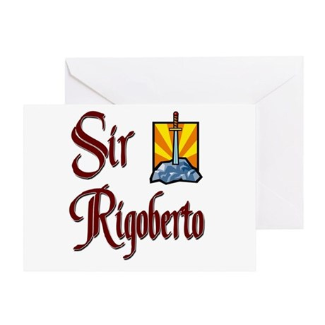 Sir Rigoberto Greeting Card