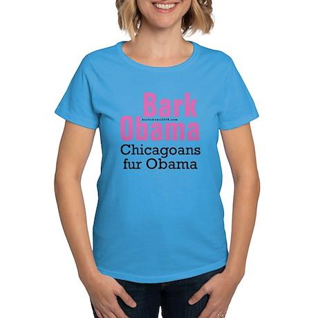 Chicagoans fur Obama Women's Dark T-Shirt