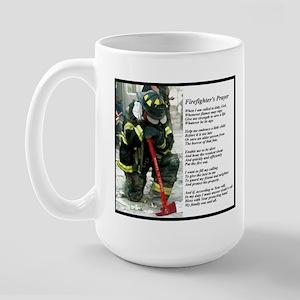 Old Version Firefighter Prayer Large Mug