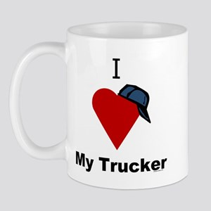 I Love My Trucker Mug