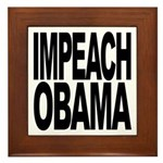 Impeach Obama Framed Tile