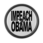 Impeach Obama Large Wall Clock