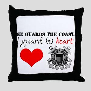 Guard His Heart Throw Pillow