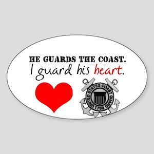Guard His Heart Oval Sticker