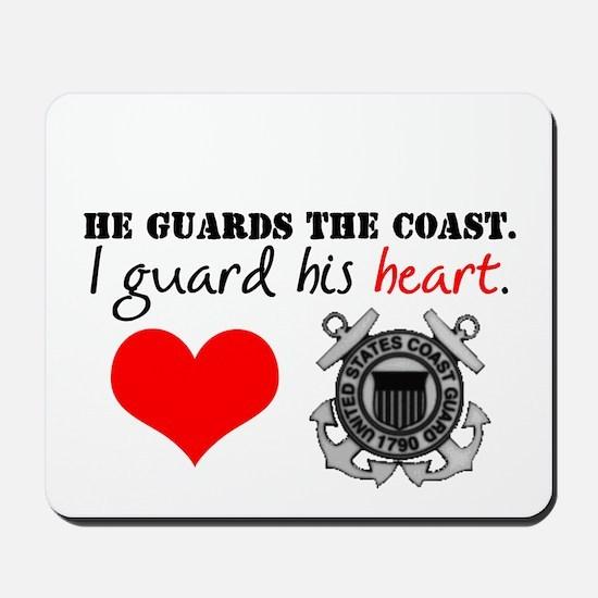 Guard His Heart Mousepad