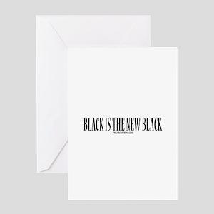 New Black Greeting Card