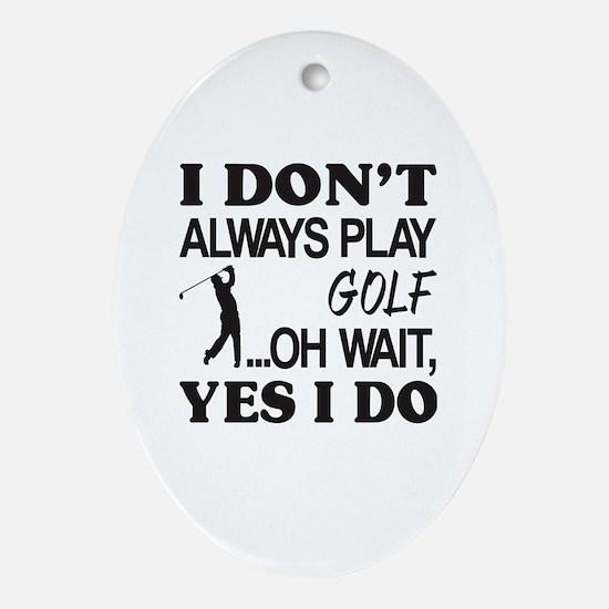 Cute Golf kids Oval Ornament