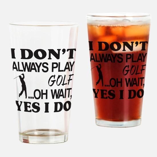 Cute Golfer evolution Drinking Glass