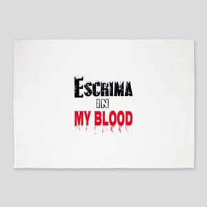Escrima in my blood 5'x7'Area Rug