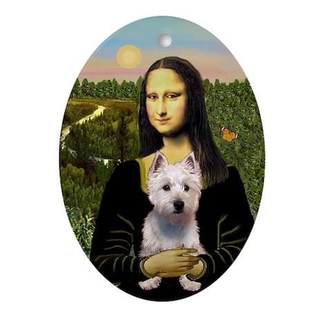 Mona Lisa & Westie Keepsake (Oval)
