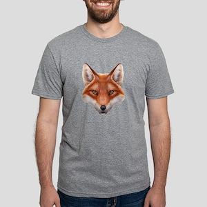 Red Fox Face Mens Tri-blend T-Shirt