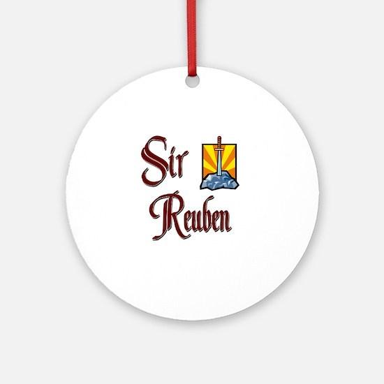 Sir Reuben Ornament (Round)