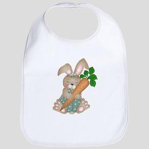 Cute Rabbit With Carrot Bib