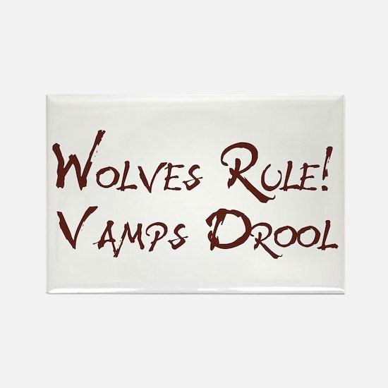 Wolves Rule! Rectangle Magnet