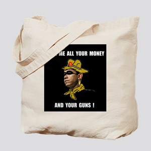 HERE COMES THE ROBBER Tote Bag