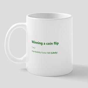 Winning A Coin Flip Mugs