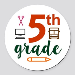 5th grade back to school Round Car Magnet