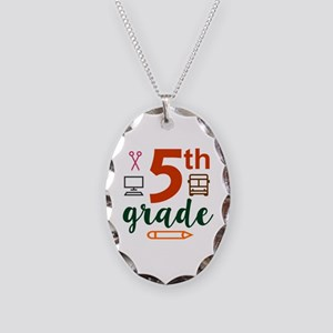 5th grade back to school Necklace Oval Charm