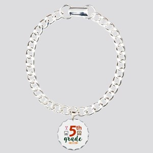 5th grade back to school Charm Bracelet, One Charm