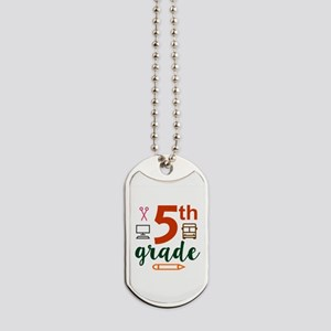 5th grade back to school Dog Tags