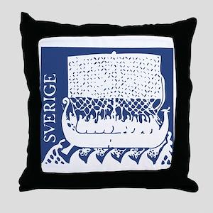 Sverige - Viking Ship Throw Pillow