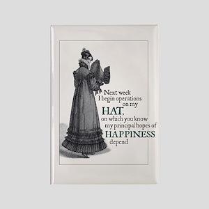 Jane Austen Hat Rectangle Magnet