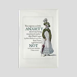 Jane Austen Anxiety Rectangle Magnet
