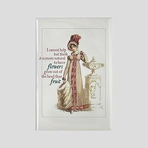Jane Austen Flowers Rectangle Magnet