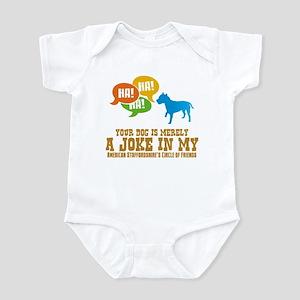 American Staffordshire Terrie Infant Bodysuit