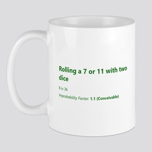 Rolling A 7 Or 11 With Two Dice Mugs