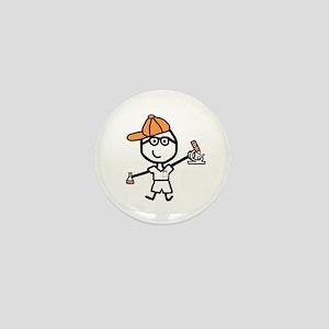 Boy & Microscope Mini Button