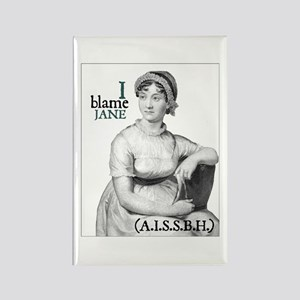 Jane Austen Blame Rectangle Magnet