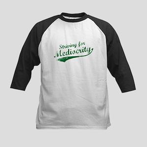 'Striving for Mediocrity' Kids Baseball Jersey