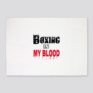 Boxing in my blood 5'x7'Area Rug