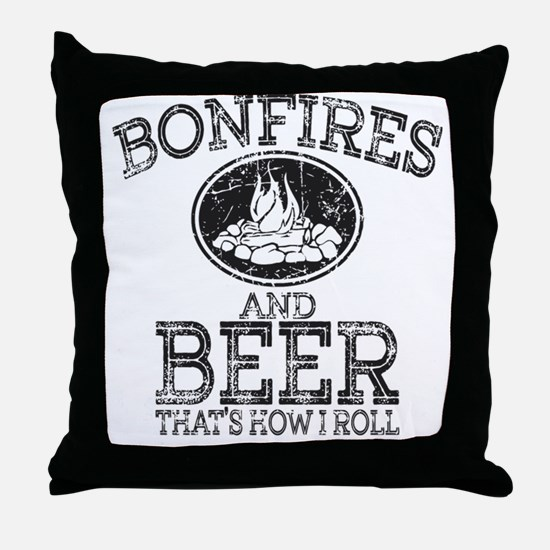Funny Bonfire Throw Pillow