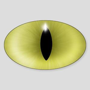 Cat's Yellow Eye Oval Sticker